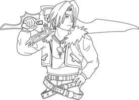 Squall Leonhart - Lineart by Onizzuka