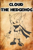 Cloud the hedgehog - cool pose by XdarkxkittyX