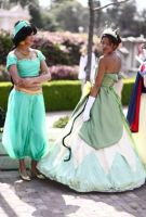 Tiana and Jasmine by xAleux