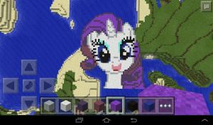 Rarity - minecraft pixel art by Rest-In-Pixels