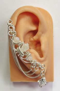 Bridal Moonstone And Swarovski Crystal Ear Cuff by HeatherJordanJewelry