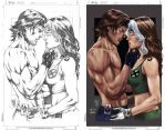 Gambit and Rogue_Colors by MARCIOABREU7