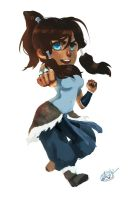 Korra keychain by Spikie