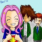 Taichi, Izzy and Mimi by Mysterious-D