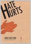 Hate Hurt Anti Racism Poster 1 by butteryflies