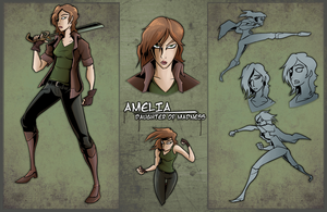 VIVA/MUERTE Character Sheet: Amelia by AndrewMartinD