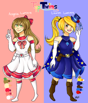 Lauren and Angela Lumiere by PixelatedFairy