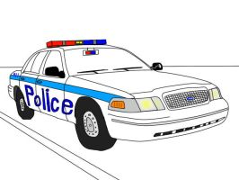 Ford CrownVic police car by sunung0317