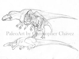 Acrocantosaurus sketch by Christopher252
