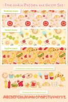 Food Junkie Pattern and Vector Set by jcroxas