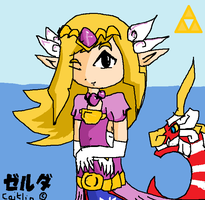 Toon Zelda And The Dragon King! *demon tetra draw* by devilpunkgirlsBFFFs