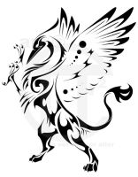 Gryphon Rampant Tattoo by ThePioden