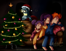 Happy New Year, meatbags! by MissFuturama