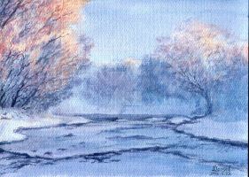 15.05.22 Snow01_watercolor by Lunabow