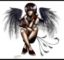 Shayd. Shadow Angel . by SilentReaper