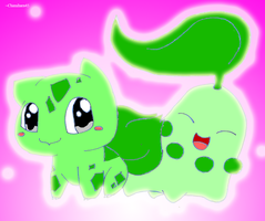 2 chibi pokemon .:Request:. by Chimihara45