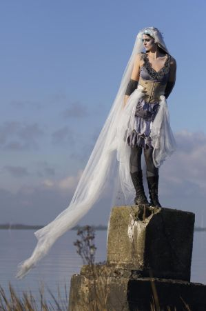 Stock - Corpse Bride fantasy burton sideview veil by S-T-A-R-gazer