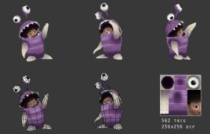 Lowpoly Disney Monster inc. Boo by StefmenDA