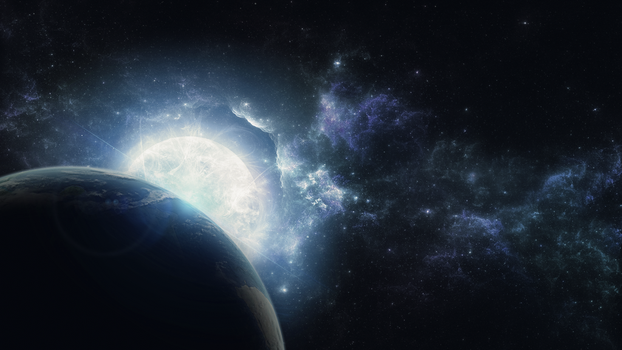 Wallpaper - Ice space by Soniop