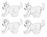 Free Pixel Pup lines - Paint Friendly by FaultAdopts