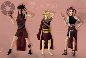 The team of problems! Mondaiji-han by Shikafy