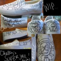 WIP 1 Superjail Shoes by Trenching-China