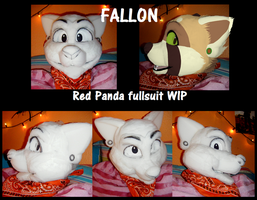 Fallon - fursuit head foamwork by pandapoots