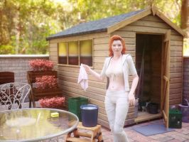 Spring cleaning in garden shed by pnn32