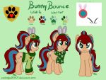 [Comm] Bunny Bounce Reference sheet by Emberfall0507
