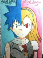 Meister + Weapon: Blue Star and Kami Evans by BTAnime-Freak