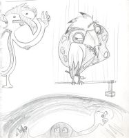 Squiggle monsters by TheMuffalow