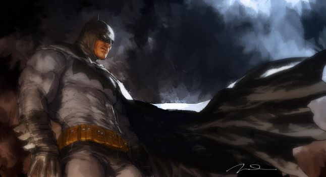 Dark Knight Returns Fan Art by AldgerRelpa