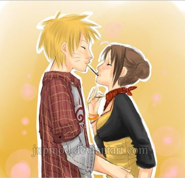 NaruTen: Pocky Kiss of Love by JuPMod