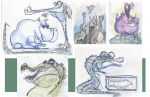 alligators and hippos by dinglehopper