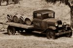 Old Truck in a Vineyard-sepia by Mac-Wiz