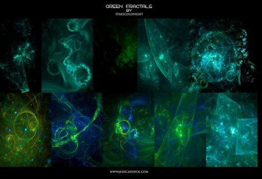 GREEN FRACTALS by starscoldnight by StarsColdNight