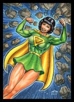 LOIS LANE AS SUPERWOMAN SKETCH CARD by AHochrein2010