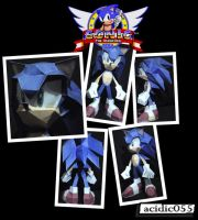 Sonic Papercraft by acidic055
