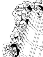 Doctor Who Print Lineart by Pembroke