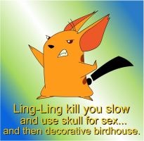 Ling-Ling demands a battle by NeoCypo