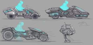 Futruistic Vehicle Sketches by charfade