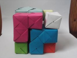 [Modular Origami] Soma Cube (completed) by UltraBill