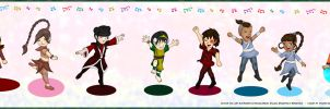 ATLA Dancing Chibis by vick330