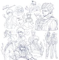 fkmt and ippo sketch by Umintsu