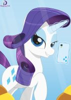 Selfie Ponies #2: Rarity (1) by Moonlight-Pen