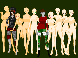 Left 4 Dead Girls Collab by Izayo-Fireheart