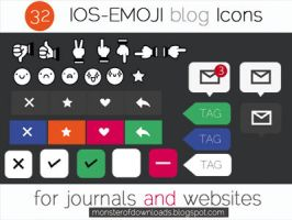 IOS-Emoji icons [monsterofdownloads.blogspot.com] by Areiff