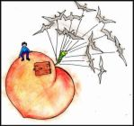 james and his giant peach by skinnyminnie