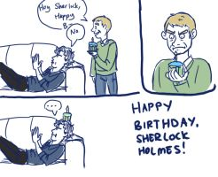 Happy Birthday Sherlock by taconaco