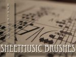 Sheet Music Brushes by KnockStock
